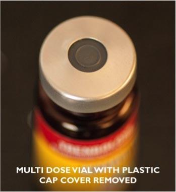 Steroid multi dose vial